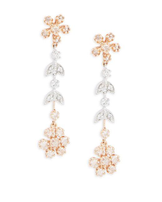 Effy - Metallic 14k White Gold, Yellow Gold & Diamond Dangle & Drop Earrings - Lyst