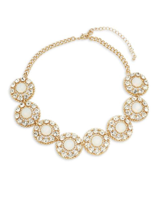Saks Fifth Avenue | Metallic Cubic Zirconia Faceted Statement Necklace | Lyst