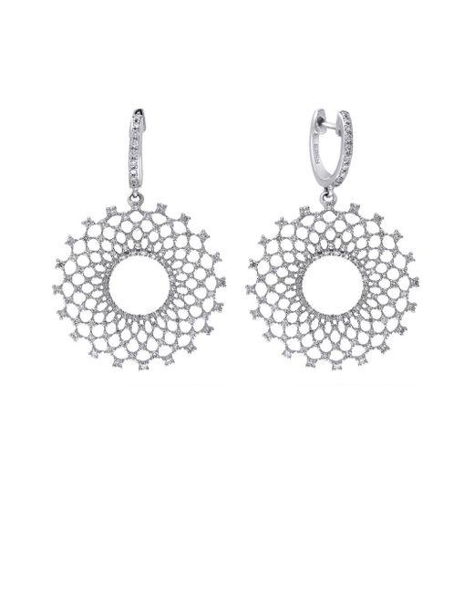 Effy - Metallic 14k White Gold & Diamond Burst Drop Earrings - Lyst