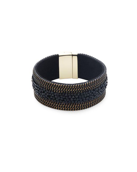 Saks Fifth Avenue | Black Crystal Band Bracelet | Lyst
