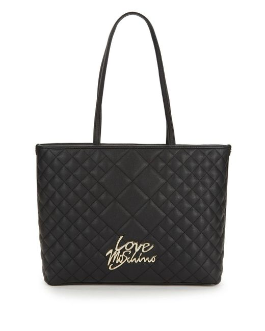 Love Moschino - Black Love Quilted Tote - Lyst