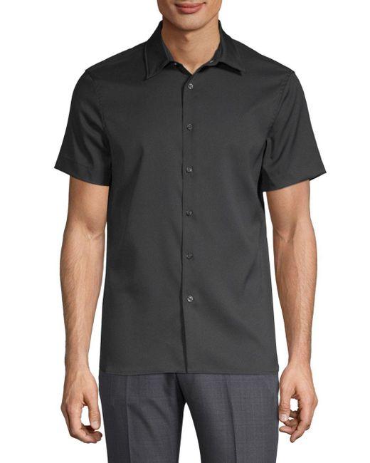 Perry Ellis Black Point Collar Button-down Shirt for men