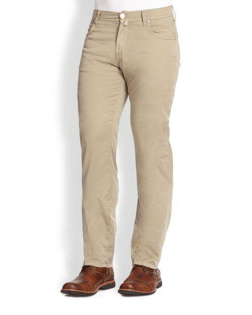 Corneliani - Natural Five-pocket Cotton Pants for Men - Lyst