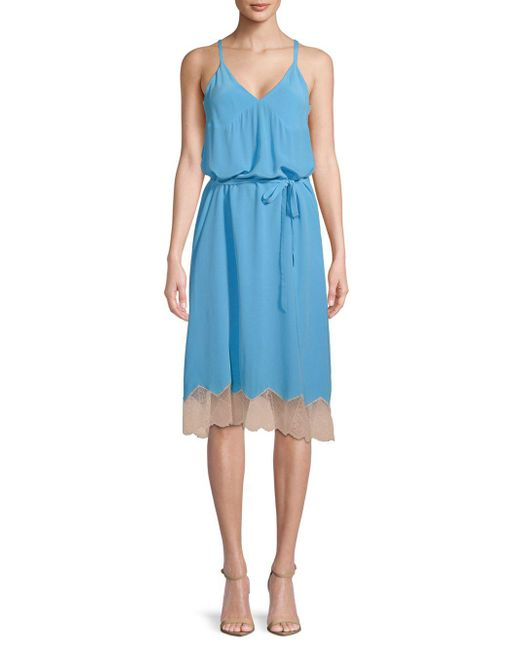 Zadig & Voltaire - Blue Cage V-neck Silk Dress - Lyst
