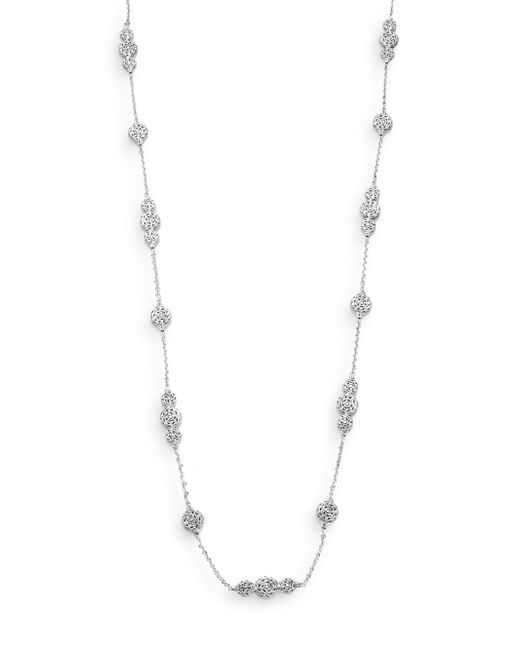 John Hardy | Metallic Classic Chain Sterling Silver Station Necklace | Lyst
