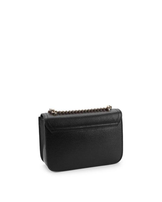 ... Furla - Black Carol Leather Mini Crossbody Bag - Lyst ... be0d34b7645c3