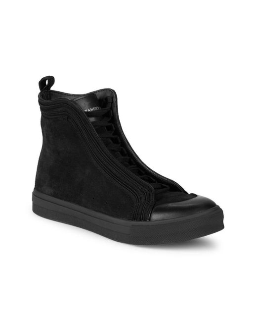 ... Alexander McQueen - Black Suede Lace-up Sneaker Boots for Men - Lyst ... fff7a598a