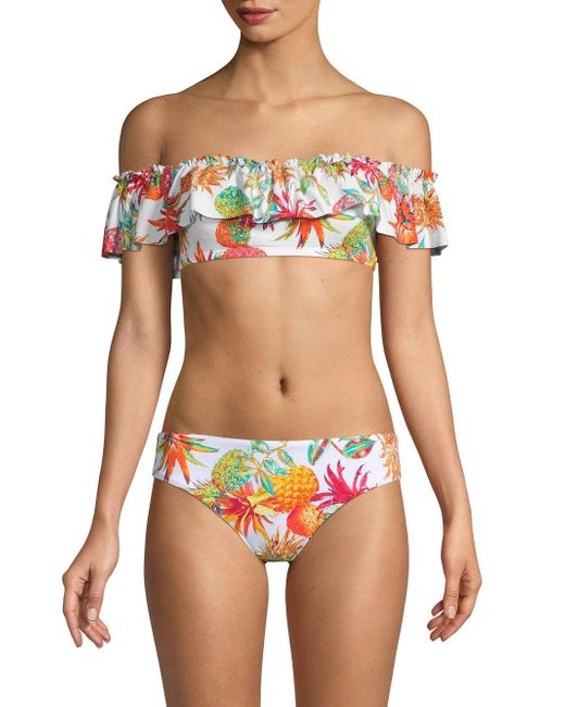 a646974212b049 Bleu Rod Beattie - White Pineapple Off-the-shoulder Bandeau Bikini Top -  Lyst ...