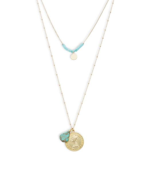 Panacea - Multicolor Turquoise Multi-strand Necklace - Lyst