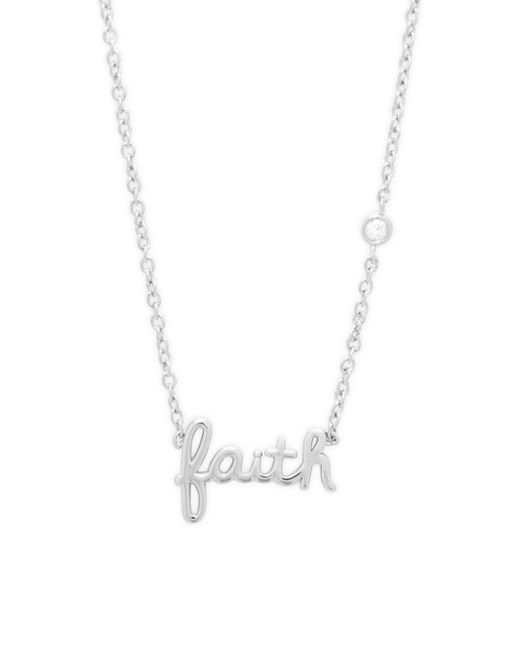 Shy By Sydney Evan - Metallic Faith Diamond And Sterling Silver Pendant Necklace - Lyst
