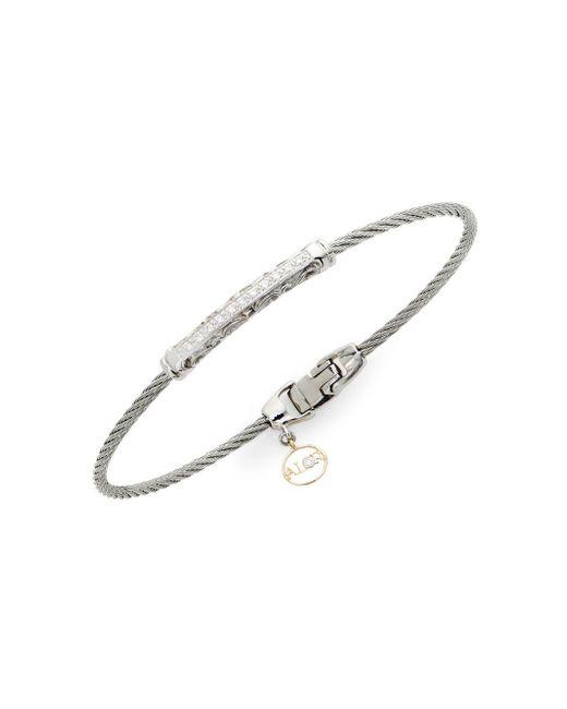 Alor - Metallic 18k Gold, Stainless Steel & Diamond Bracelet - Lyst