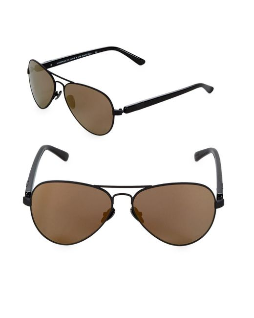 Westward Leaning - Black Concorde 53mm Aviator Sunglasses - Lyst