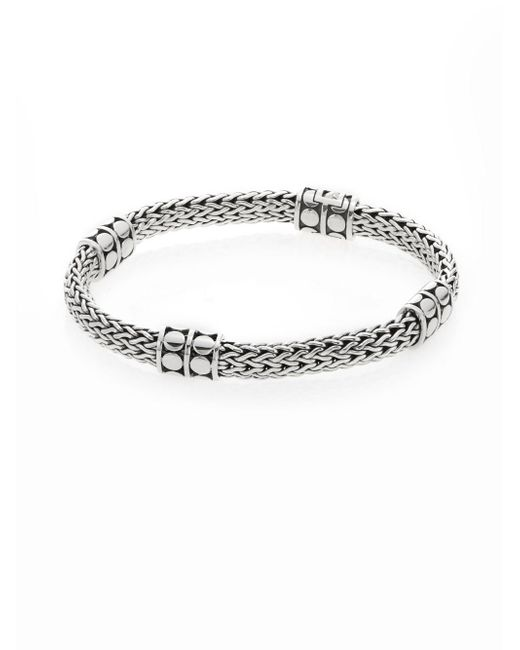 John Hardy - Metallic Dot Four-station Sterling Silver Chain Bracelet - Lyst