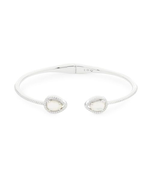 Adriana Orsini - Multicolor Silvertone Mother-of-pearl Bracelet - Lyst