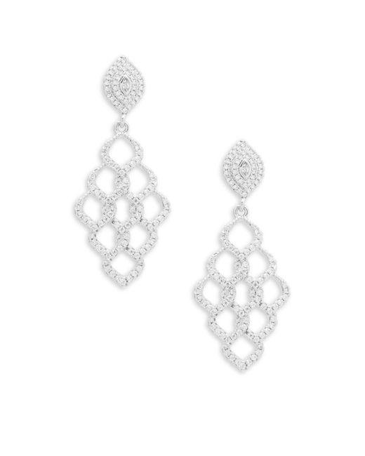 Saks Fifth Avenue | Metallic Crystal Chandelier Earrings | Lyst
