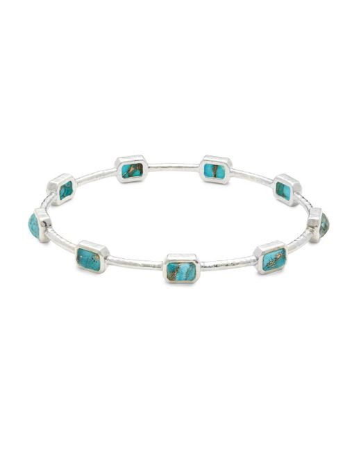 Ippolita - Metallic Rock Candy Bronze Turquoise Composite & Sterling Silver Bangle - Lyst