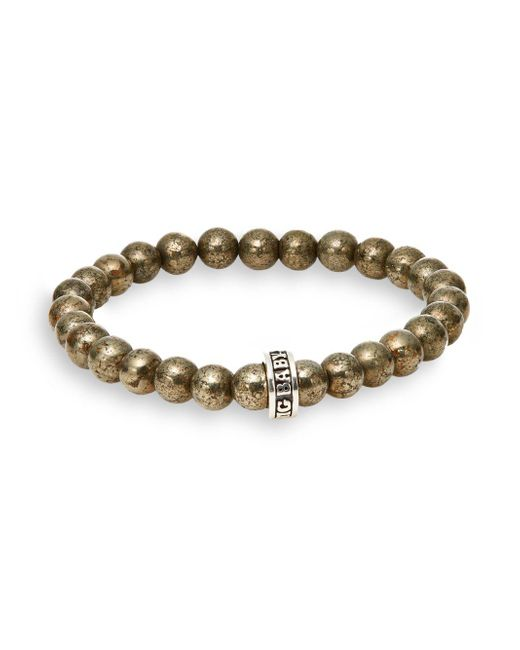King Baby Studio | Metallic Pyrite Bead Bracelet for Men | Lyst