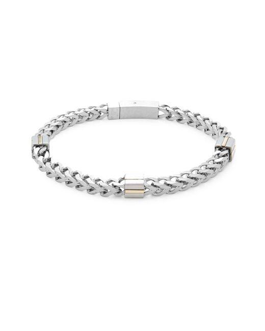 Saks Fifth Avenue - Metallic Stainless Steel Chain Bracelet - Lyst