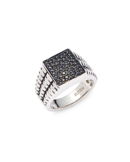 Effy - Metallic 925 Sterling Silver & Black Sapphire Ring - Lyst