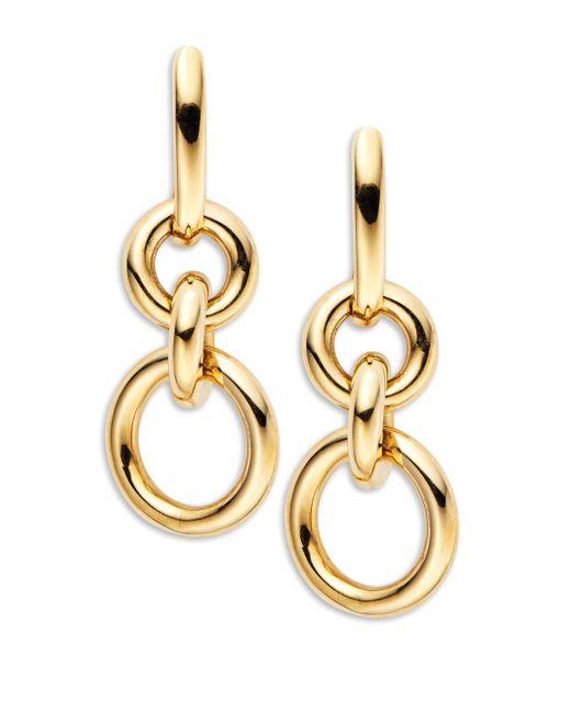 Roberto Coin - Metallic Basic Gold 18k Yellow Gold Three-loop Drop Earrings - Lyst