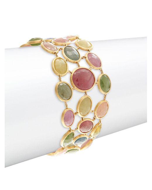Marco Bicego - Metallic Mixed Sapphires & 18k Yellow Gold Bracelet - Lyst