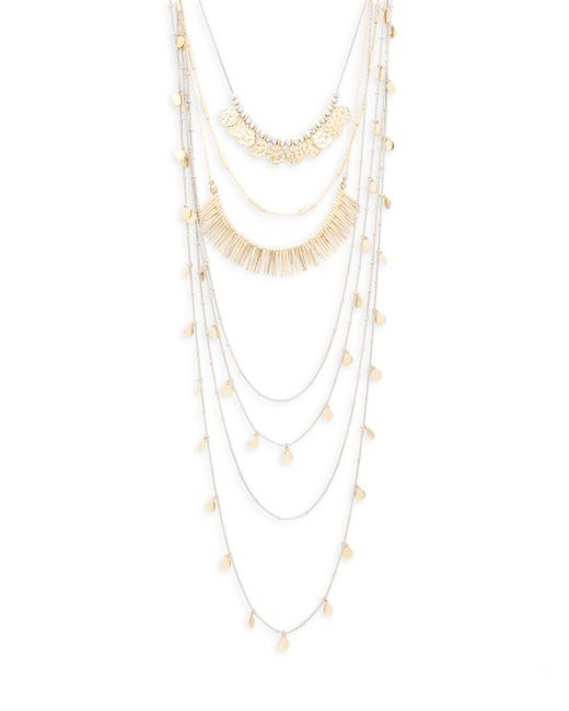 Saks Fifth Avenue | Metallic Multi-chain Lobster Necklace | Lyst