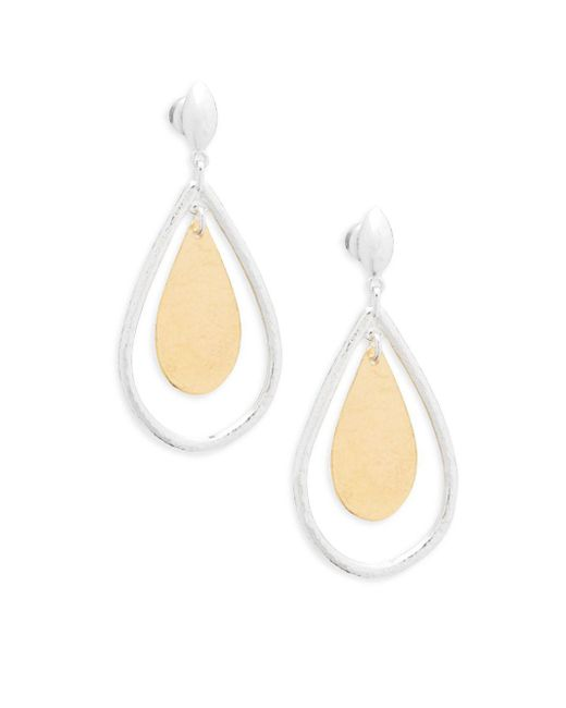 Gurhan - Metallic Sterling Silver Two-tone Drop Earrings - Lyst