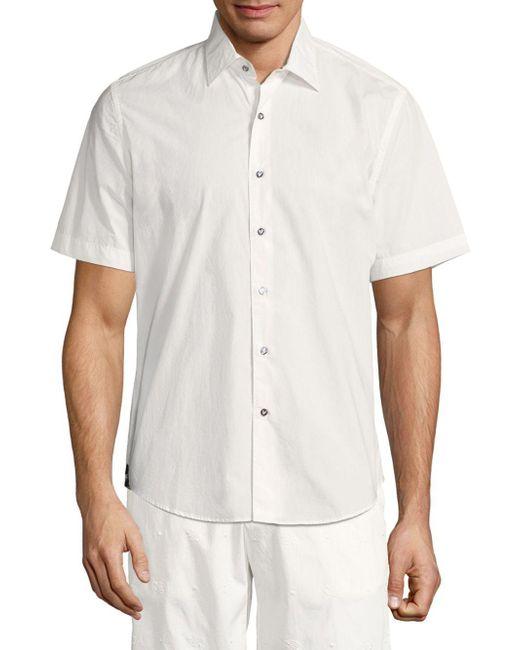 Vilebrequin - White Short Sleeve Cotton Shirt for Men - Lyst