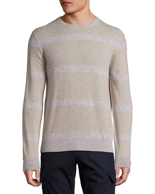 Saks Fifth Avenue - Gray Cashmere Colorblock Sweater for Men - Lyst