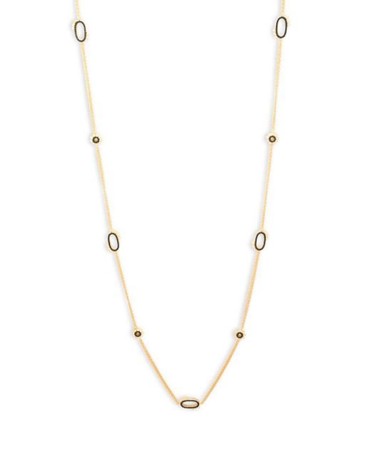Freida Rothman - Metallic Spiked Oval Sterling Silver Necklace - Lyst