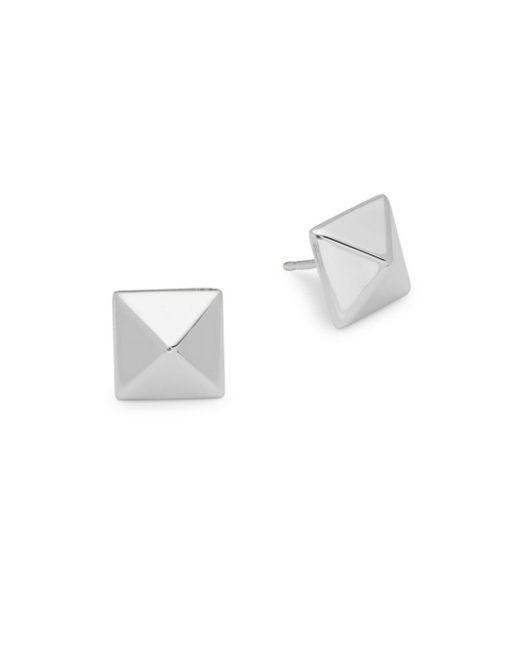 Saks Fifth Avenue - Metallic Sterling Silver Pyramid Stud Earrings - Lyst
