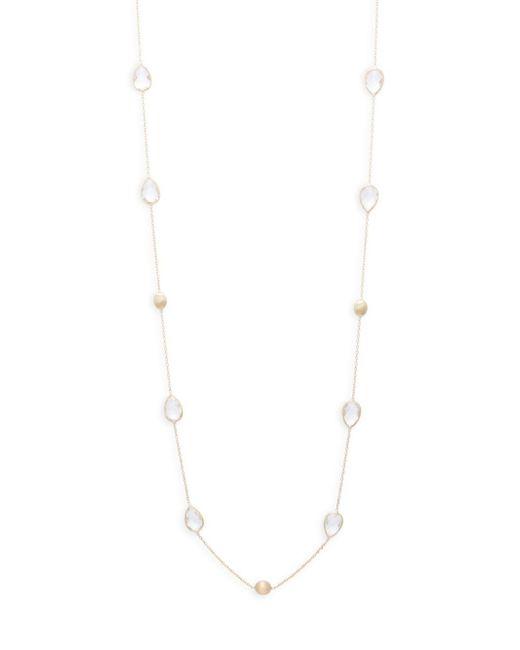 Saks Fifth Avenue - Metallic Quartz & Gold Nugget Necklace - Lyst