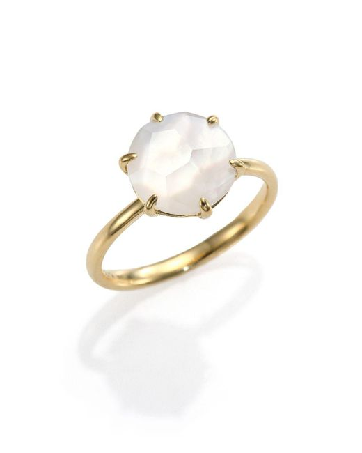 Ippolita - Metallic Rock Candy Mother-of-pearl, Clear Quartz & 18k Yellow Gold Doublet Ring - Lyst