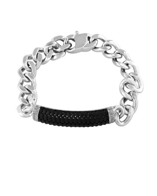 Effy - Metallic Sterling Silver And Ruthenium Cuban Chain Bracelet - Lyst