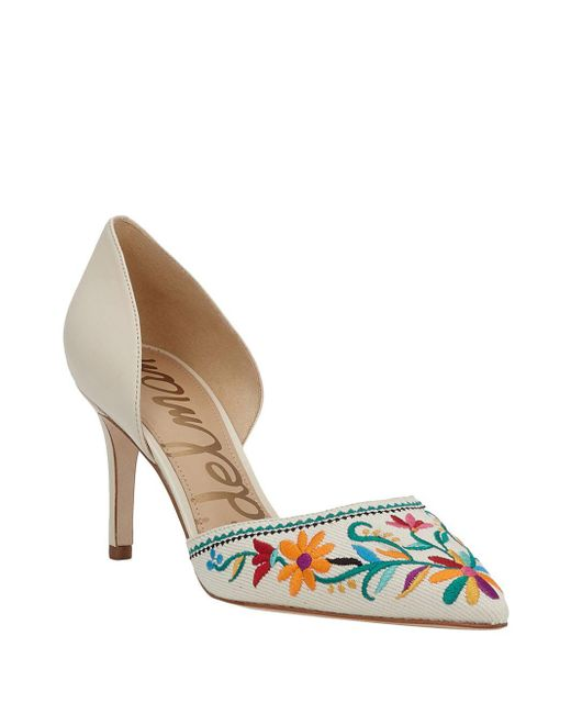 Sam Edelman - White Telsa Leather Dorsay Pumps - Lyst