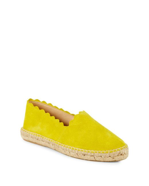 Saks Fifth Avenue - Yellow Marigold Suede Scallop Espadrilles - Lyst