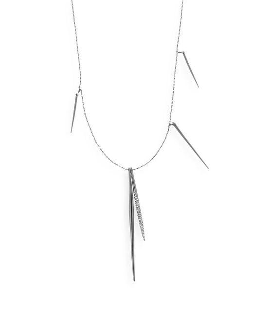 Alexis Bittar - Metallic Miss Havisham Core Swarovski Crystal Embellished Pave Spear Necklace - Lyst