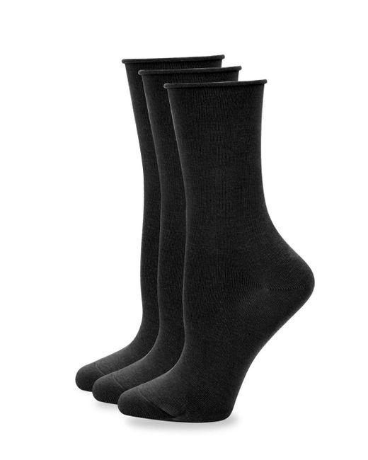 Hue - Black Three Pack Roll Sock Set for Men - Lyst