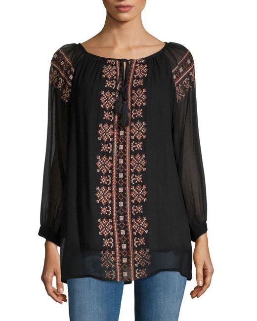 Raga - Black Ancon Embroidered Tunic - Lyst