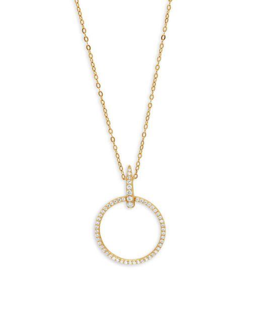 Adriana Orsini - Metallic Eva Crystal Drop Circle Pendant Necklace - Lyst