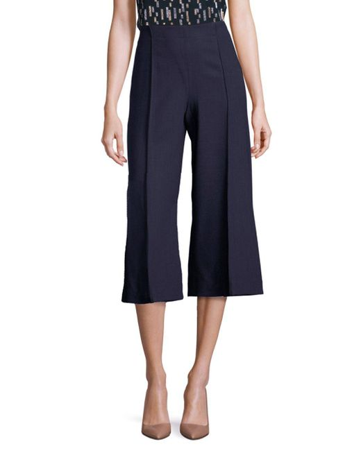 Lafayette 148 New York - Blue Luxe Italian Double Face Thompkins Culottes - Lyst