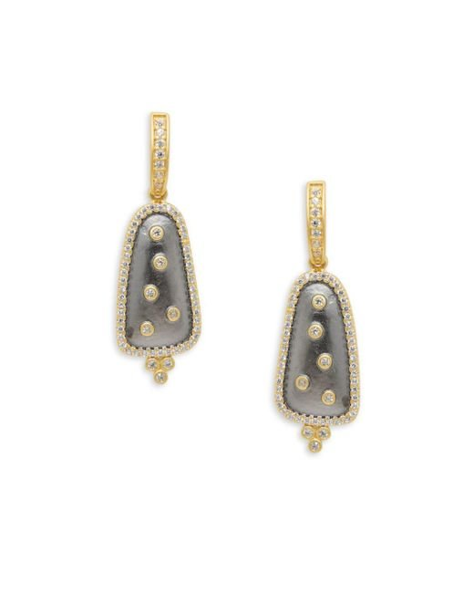 Freida Rothman - Metallic Scattered Crystal Drop Earrings - Lyst