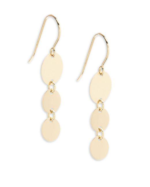 Saks Fifth Avenue - Metallic 14k Yellow Gold Descending Oval Earrings - Lyst