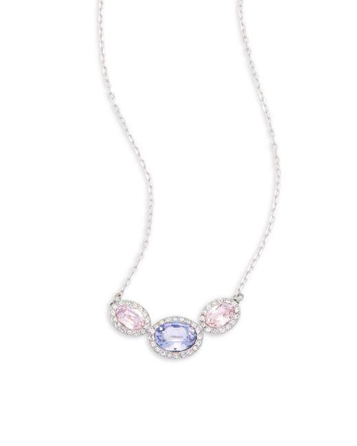 Swarovski - Metallic Crystal Studded Necklace - Lyst