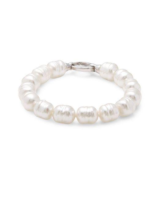 Majorica - White Sterling Silver & Pearl Divine Bracelet - Lyst