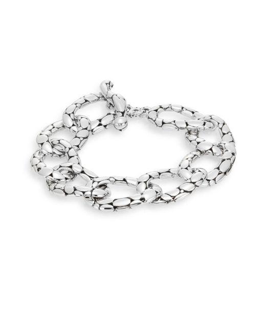 John Hardy | Metallic Kali Sterling Silver Flat Link Bracelet | Lyst