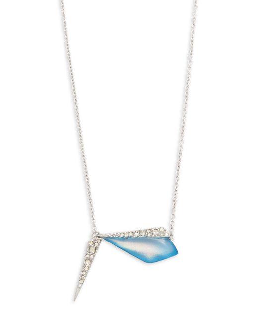 Alexis Bittar   Blue Swarovski Crystal & Lucite Pendant Necklace   Lyst
