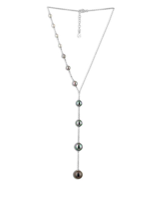 Majorica - Metallic Illusion Organic Pearl & Sterling Silver Y Necklace - Lyst