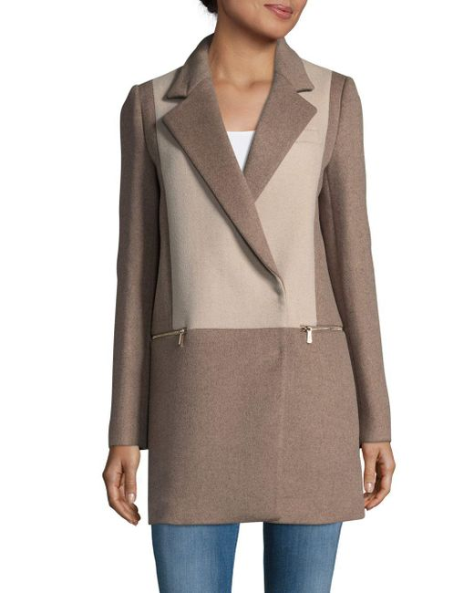 Dawn Levy | Natural Lila Two-tone Coat | Lyst