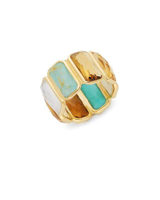 Ippolita - Metallic Rock Candy 18k Yellow Gold Rectangular Gemstone Ring - Lyst